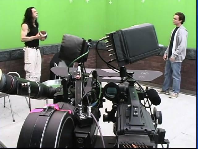Le fameux système de tournage à 2 caméras (35mm et HD).